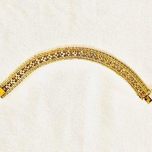 Vintage Italy Sterling Silver Riccio Link Bracelet